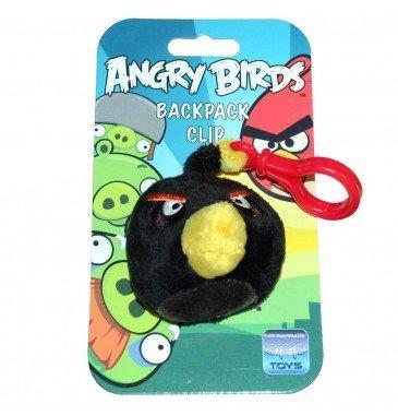 Clip de Angry Birds (Angry Birds) Mochila 3 pulgadas rellenos P?jaro Negro (jap?n importaci?n)