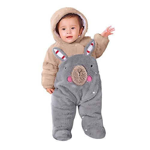 Baby Teddy Overall Jacke, Langarm Reißverschluss Cartoon Tiermuster Niedlich Hoodie Baby Neugeborenen Strampler Onesie, Kleinkind Overall Winter - Langarm-deluxe-overall