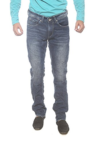Spykar Mens Blue Slim Fit Low Rise Jeans (Rico) (34)  available at amazon for Rs.959