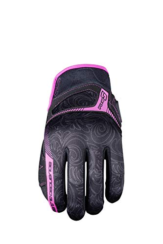 Cinque Advanced guanti RS3replica donna guanti da adulto, nero/rosa, taglia 10