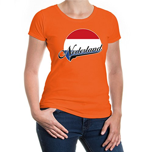 buXsbaum® Girlie T-Shirt Niederlande-Logo Orange-z-direct