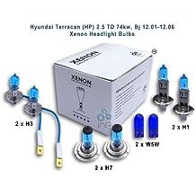 Hyundai Terracan (HP) 2.5 TD 74kw, Bj 12.01-12.06 Xenon Headlight Bulbs