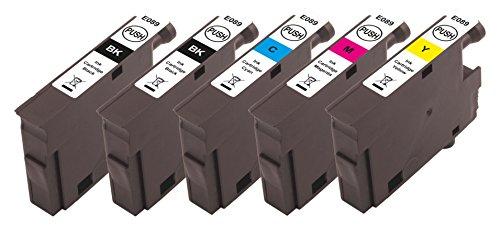 Preisvergleich Produktbild Peach Spar Pack Plus Tintenpatronen kompatibel zu Epson T089 (2xT0891, T0892, T0893, T0894)