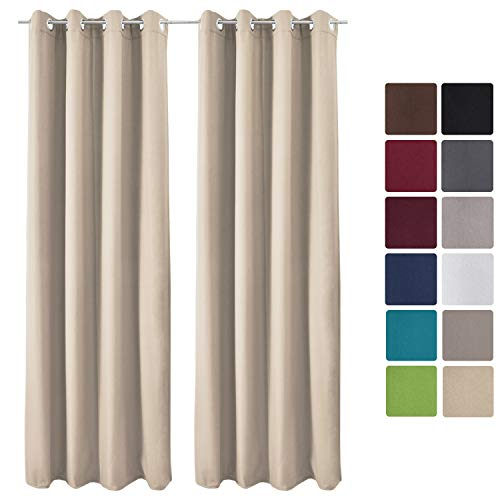 Beautissu Set 2 Cortinas térmicas Amelie TO 140x245