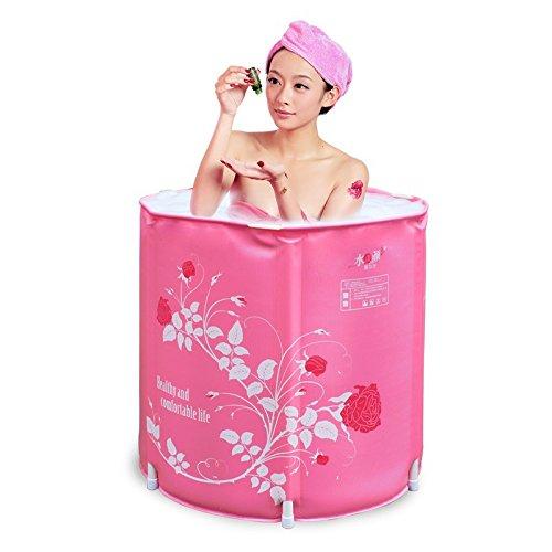 LIVY Verdickte klappbare Wanne Bad Lauf Erwachsene Wanne Kunststoff aufblasbare Badewanne Bad Lauf
