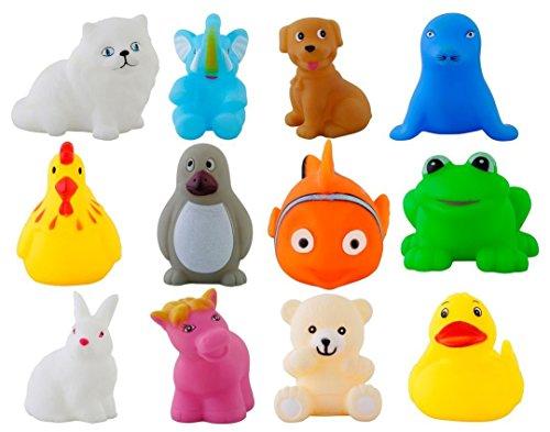 Urbanese Chu Chu Bath Toys (Set of 12 Animals)