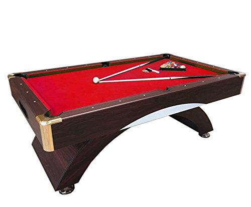 Billardtisch 7 ft Billard Billard-Spiel Messung 188 x 94 cm neue rot Napoleone verpackt Kostenloser Versand verfügbar rot