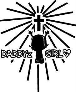 Design With Vinyl Decals Daddyz Girl Picture Art-Mädchen Schlafzimmer-Abziehen & Aufkleben Aufkleber-Vinyl Wand Aufkleber Größe: 40,6x 61cm-22Farben erhältlich (Der Hot Dusche Girl In)