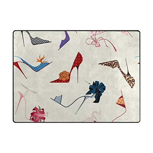 Ahomy Area Rugs High Heels, Multi, 63 x 48 inch -