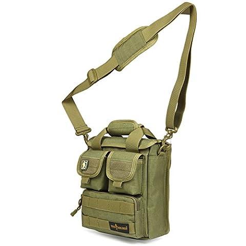 FREE SOLDIER Multifunction Mens Outdoor Tactical Shoulder Messenger Bag Assault Pack Gear Handbag Utility Carry Bag(Mud)