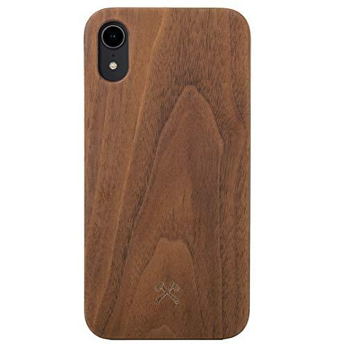 Woodcessories - Hülle kompatibel mit iPhone Xr aus FSC Holz - EcoCase Classic (Walnuss/Schwarz) -