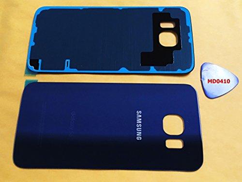 (ERGP) Galaxy S6OEM schwarz Saphir hinten Glas Objektiv Akku Tür Gehäuse Cover + Kleber + Werkzeug dunkel blau Ersatz für G920G920A g920p G920T g920F g920V (Ipad 3-bildschirm Oem)