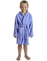 CityComfort Toalla para niños, niños, niñas, niñas, niñas, con Capucha, toallero, Albornoz, 100% algodón, Toalla, tocador, Bata, toallero, Suave, salón, Desgaste, 7-13 años