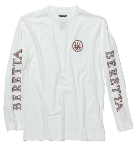 beretta-hombres-de-manga-larga-camiseta-de-disparo-bets717294-x-large-blanco