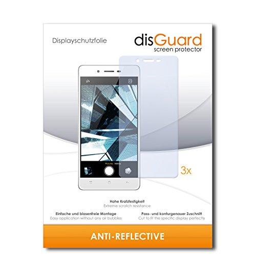 disGuard® Displayschutzfolie [Anti-Reflex] kompatibel mit Oppo Mirror 5s [3 Stück] Entspiegelnd, Matt, Antireflektierend, Extrem Kratzfest, Anti-Fingerabdruck - Panzerglas Folie, Schutzfolie