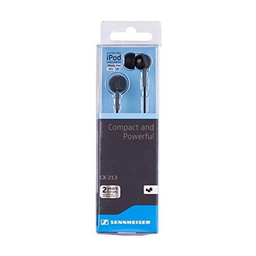 Sennheiser CX213 Earphones (Black) Image 2