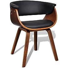 Amazon chaise bois cuir design