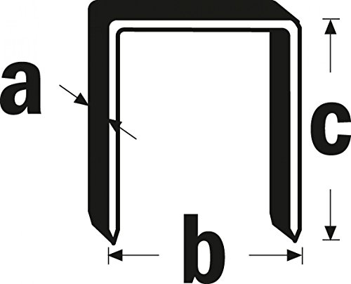 Triuso acier inoxydable-Agrafes de type 11Lot de 1000C = 10mm