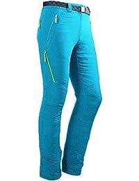 Izas Stretch Birham, Pantalón Técnico para Mujer, Turquesa / Verde claro, XL