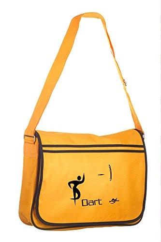 Retro Messenger Bag BG71 gold/schwarz Dart