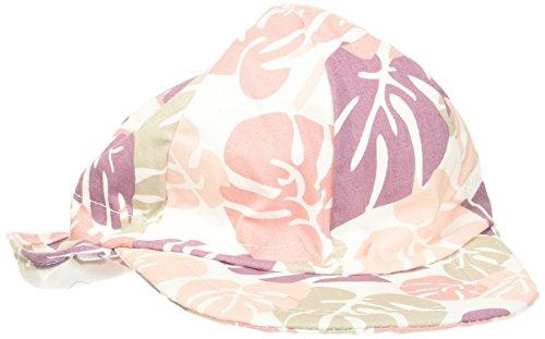 Melton Baby-Mädchen Kappe Sonnenkappe mit Nackenschutz UV30+, Gemustert Mehrfarbig (Blush Rose 503) 51 -
