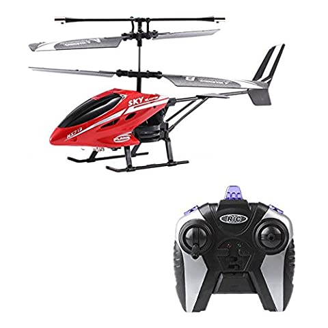 RC Helicopter, Rcool HX713 2.5CH Helicopter Gyro Radio Remote Control Aircraft Drone(Red)