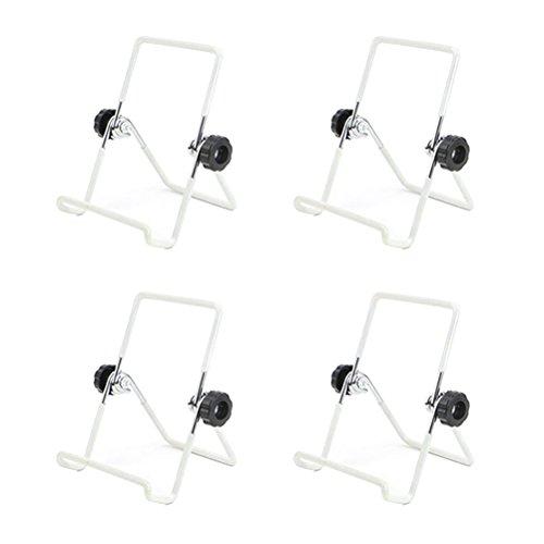BESTONZON 4Mason Jar Samen Etablieren Deckel Steht Edelstahl Etablieren Jar Ständer Handy iPad Tablet Ständer-S (Weiß) 20 Jar Spice Rack