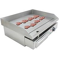 Iglobalbuy Plancha Barbecue 3KW, Plancha Electrique Professionnelle Griller 8 mm Plaque de Cuisson en Inox en Fonte Durable Grill Electrique Plancha Multifonctions pour Restaurant Café Cuisine (Plancha 3000W)