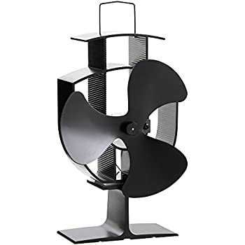 VonHaus 3 Blade Stove Fan – Silent, Heat Powered Wood / Log Burner Fan - Eco Friendly Heat Circulation for Fireplaces