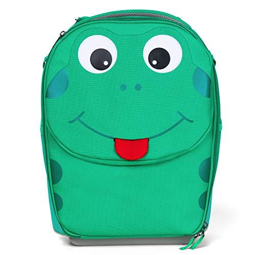 Affenzahn Kindertrolley für Kinder auf Reisen in Handgepäckgröße mit 20 Liter Finn Frosch - Grün