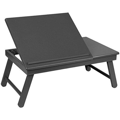 Promobo - Plateau Pliable pour Ordinateur Table d'Appoint Réglable Petit Déjeuner Repas Télé Laptop Noir