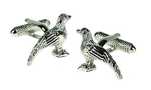 Faisan boutons de manchette motif oiseaux en boîte cadeau - livrés Londres ck619