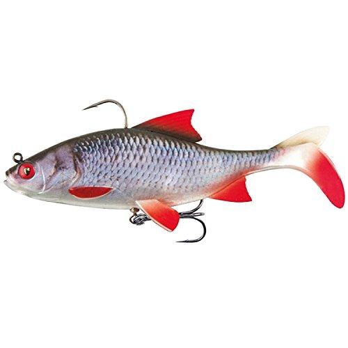 Fox Rage Replicant Realistic Roach - Gummifisch zum Spinnfischen, Gummiköder zum Spinnangeln, Swimbait zum Hechtangeln, Hechtköder, Farbe:super natural roach, Länge / Gewicht:18cm - 85g