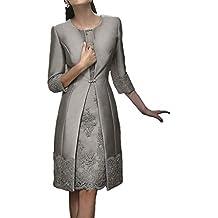 d5019520fabd Due pezzi Donne Pizzo Abiti da ballo con giacca pizzo Corto Vestito da sera  Madre di