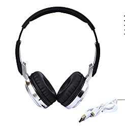 Acid Eye Attractive High Bass Quality Adjustable Bluethooth Headphone With Aux And All Controlling Functions - Black