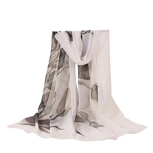 Lomsarsh Mode Frauen Blumendruck Lange Weiche Wrap Schal Sonnenschirm Anti-UV Strandtuch Stil Zubehör Schals Lange Weiche Wrap Schal Elegante Wrap Damen Schal