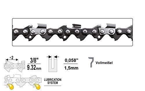 "Yato, Sägekette 3/8\"" x 1,5 x 40 - 80 TG , Vollmeißel , Hobby, Sägeketten (57 TG)"