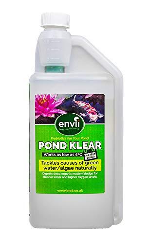Envii Pond Klear – Teich Wasseraufbereiter bestehend aus Bakterien zur Beseitigung von grünem Wasser und Algen, ungefährlich für Fische und Haustiere – 1 Liter