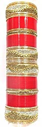 Jewelshingar Jewellery Fine Red Plated Punjabi Chura For Women ( 36721-punjabi-chura-2.10 )