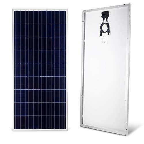 Betop-camp Módulo Fotovoltaico Policristalino Fotovoltaico de Panel Solar de 160W y 12V para Cargar una Batería de 12 Vatios en una Autocaravana, Caravana, Barco o Yate, o Fuera de la Red