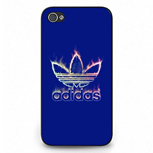 Iphone 4 Case Cover,Blue Printed Adidas Logo Phone Case Black Hard Plactic Case Cover Snap on Iphone 4 Color003