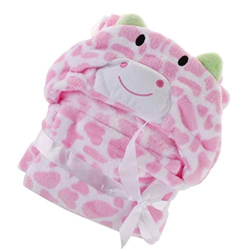 SM SunniMix Baby Pink Hoodie Animal Cute Bademantel Schlafsackbezug 100x100cm - # 8 Pink Dots