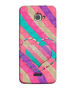 PrintVisa Designer Back Case Cover for InFocus Bingo 50 (Love Strip Candy Colourful Heart Designer Cloth)