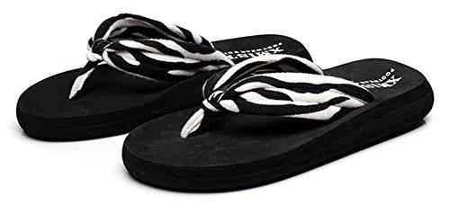 Good Night Donne di colore piatto Beach Sandalo Infradito Zebra
