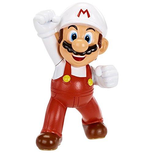 Mario Bros - World of Nintendo figura Super Mario, Fire Mario, 6 cm (Jakks Pacific JAKKNINFIREMARIO)
