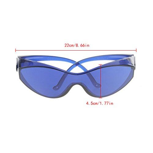 Yintiod IPL Beauty Protective Red Laserschutzbrille Schutzbrille 200-1200nm Farbe: Blau