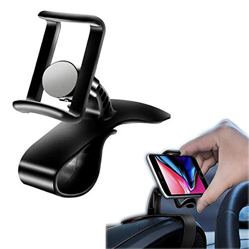 Clip Vertical Horizontal Bending Mobile Stand with Telescopic Clip, Universal Phone Holder Cradle for IPhone Samsung Galaxy Note HTC Nokia LG Huawei ()