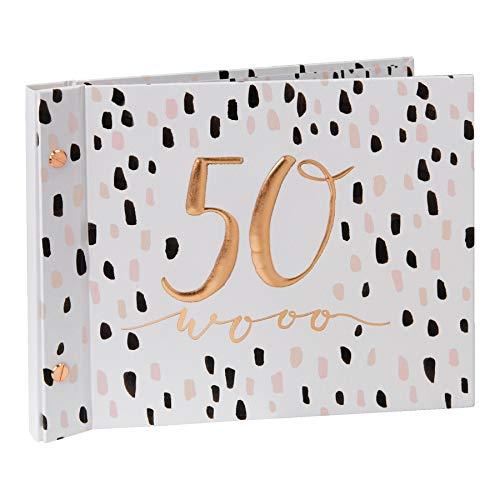 Luxe Anniversaire Livre d'or avec Album Photo par Hotchpotch–Rose 50Ans