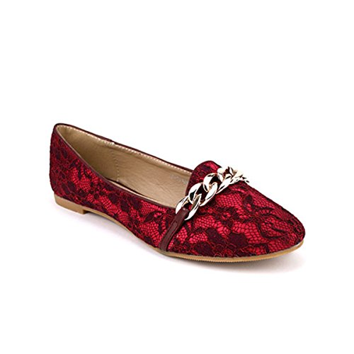 Pantofole Perrine Bordeaux Cendriyon Pizzo Scarpe Donna UYnqBqOHd