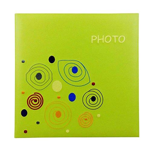 FOOHAO- Album de broderie Creative, Collection de photos PU Cover Insert, Enregistrement de couleur de croissance bébé, 600 Photos - Panorama 6 '' (6x4.5 '') (Couleur : Orange)